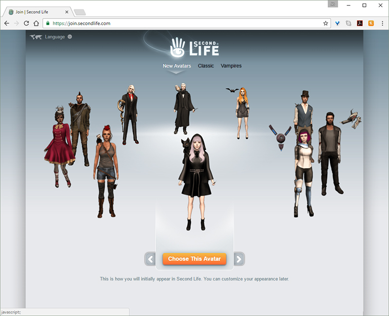 Step 2. Visit the Signup Section of the Second Life Website